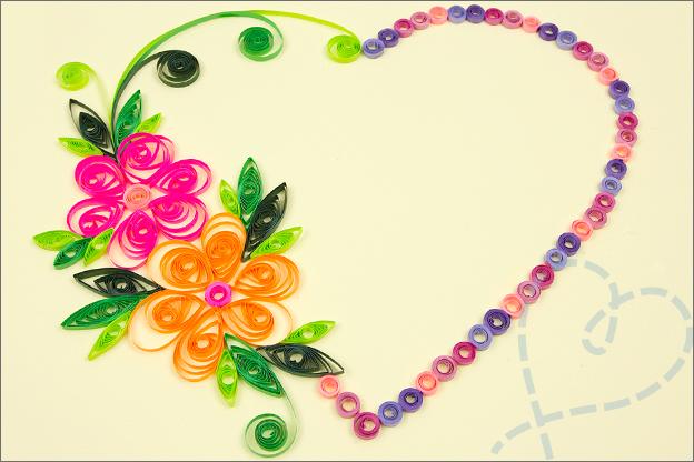 hart met bloemen filigraan