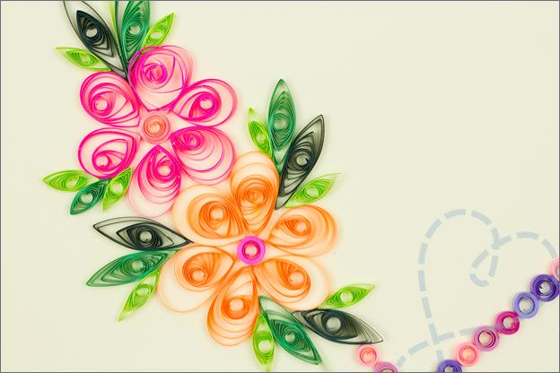 hart met bloemen filigraan detail