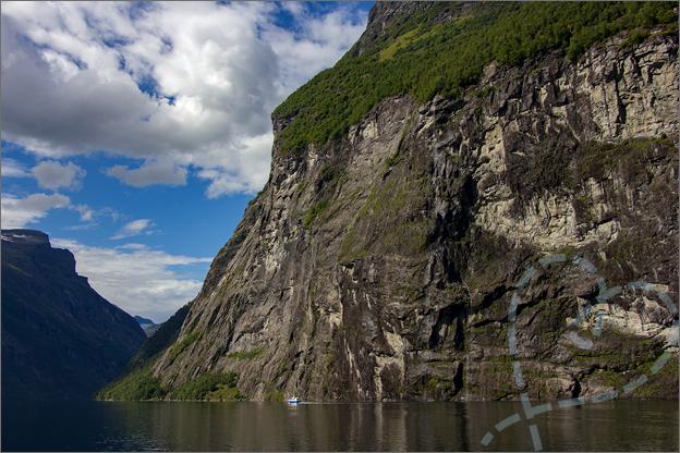 Varen boot geirangerfjord noorwegen