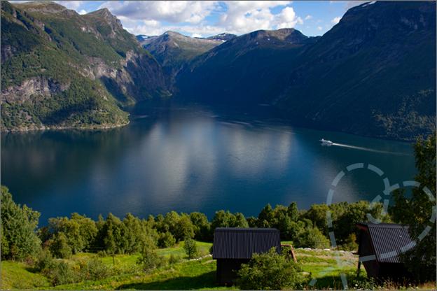 geirangerfjord hellesylt uitzichtpunt noorwegen fjord
