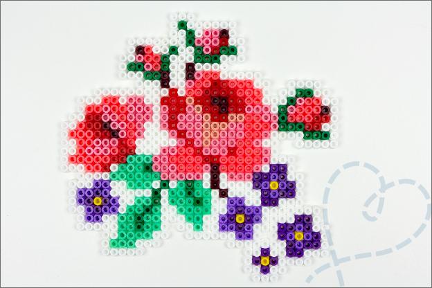 strijkkralen bloemen