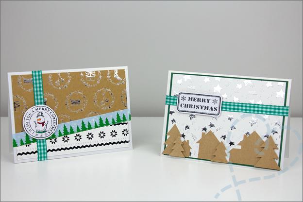action kerst knutselen kaarten maken