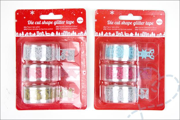 action kerst producten glittertape