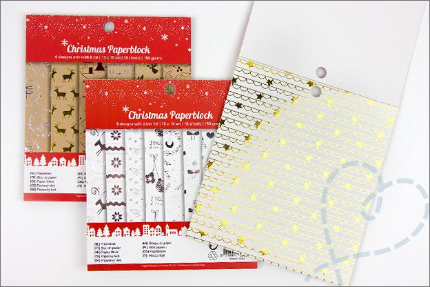 action kerst producten papierblokken