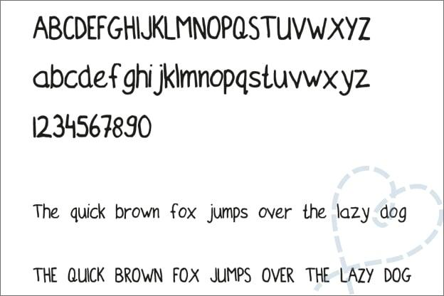 mijn eerste eigen lettertype