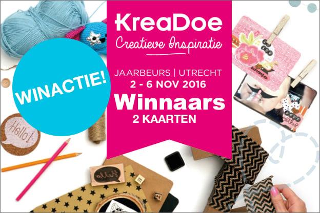 winnaars winactie KreaDoe