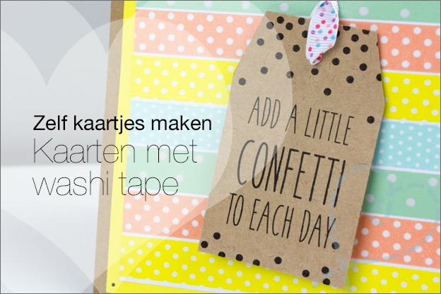 kaarten zelf maken met washi tape