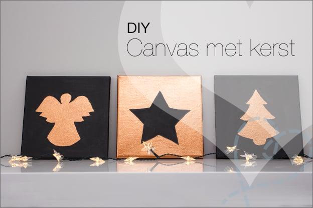kerst canvas zelf maken