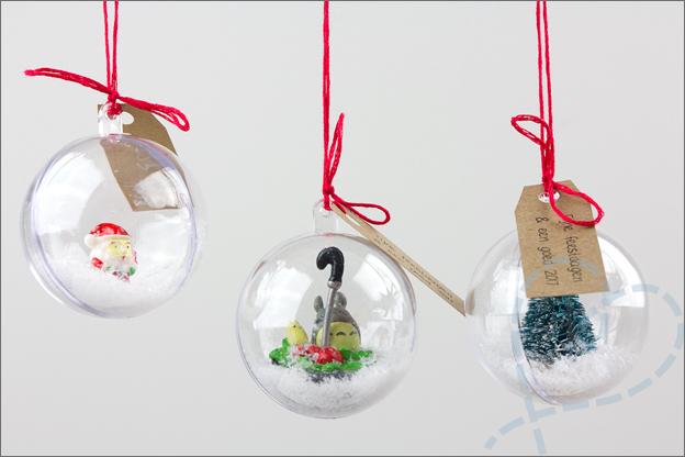 kerstballen kerstwens kerstkaart maken