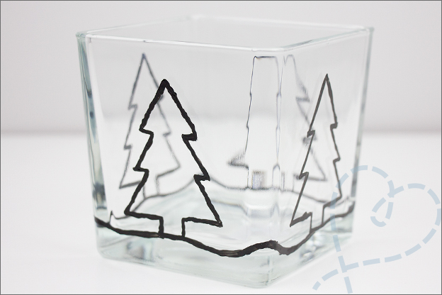 kerstbomen verven met glasverf action