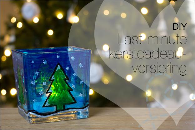 last minute kerstcadeau kerstversiering glasverf action