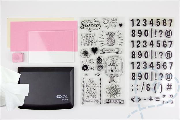 benodigdheden clear stamps