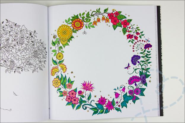 kleuren voor volwassen mijn geheime tuin cirkel met bloemen en planten