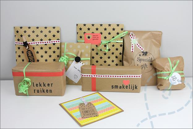 Echte post is cool gekochte cadeautjes ingepakt