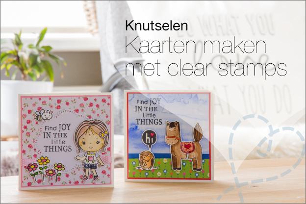 kaarten maken met clear stamps