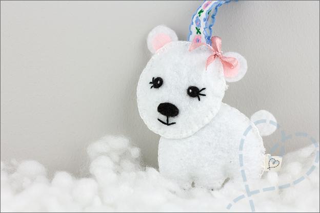 ijsbeer van vilt maken