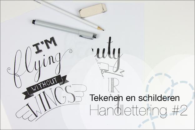 Handlettering posters tekenen songtekst oefenen