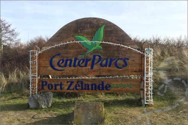 Aankomst bord CenterParcs Port zelande