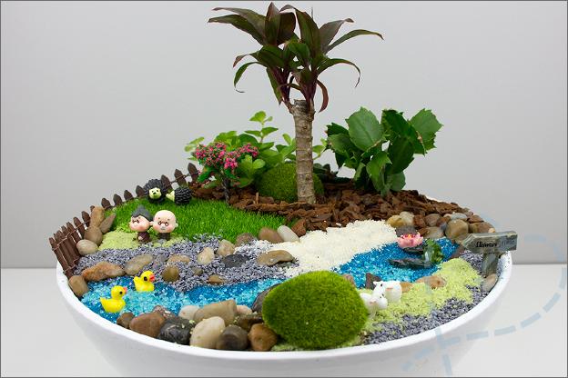 miniatuur tuin gemaakt totaal
