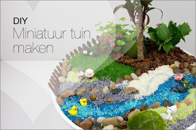 miniatuur tuin maken fairy garden uitleg