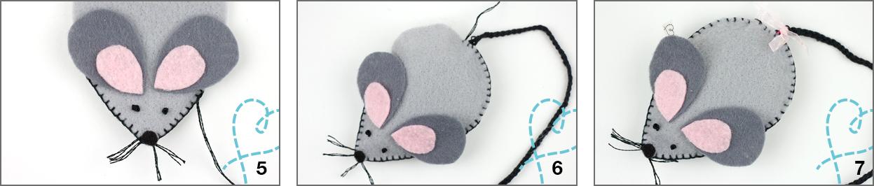 muis knutselen van vilt