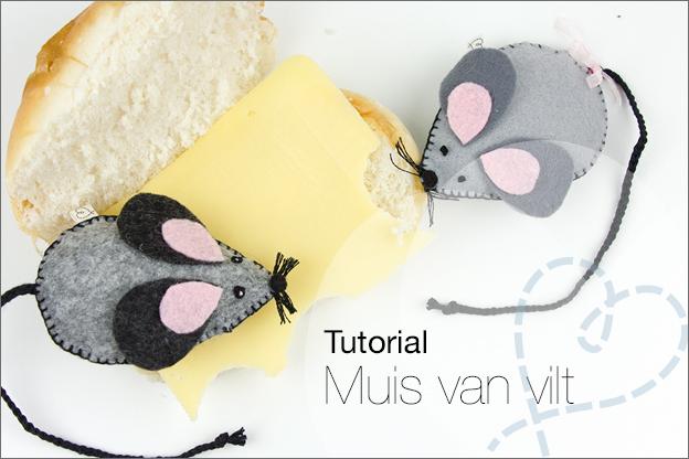 tutorial muis van vilt knutselen