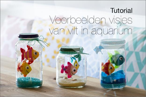 Voorbeelden vissen van vilt in vissenkom Aquarium