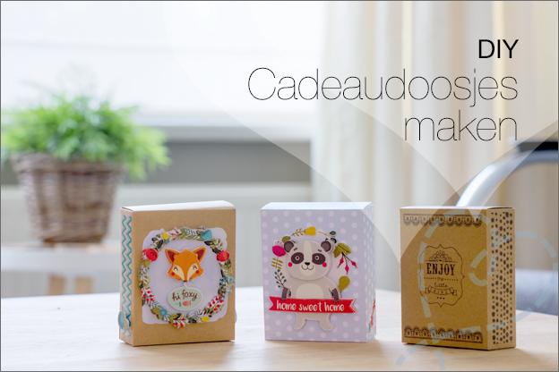 Zelf cadeaudoosjes maken DIY gratis patroon
