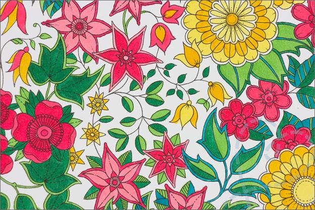kleuren voor volwassen boom bloemen detail