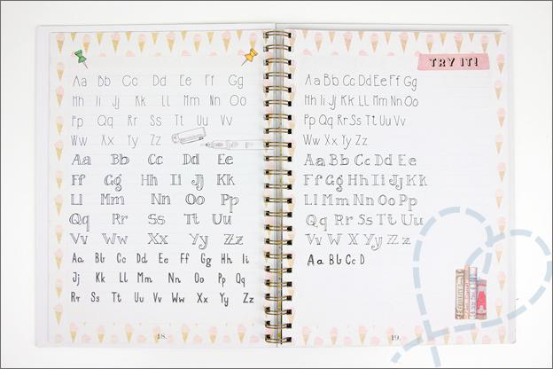 Action handlettering natekenen letters