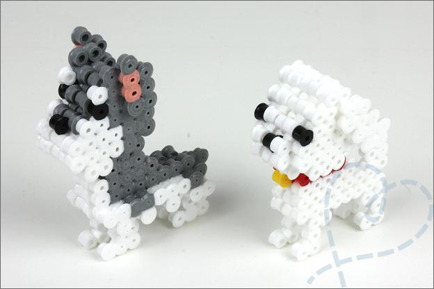 3D strijkkralen hondjes