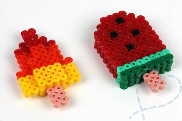 3D strijkkralen ijsjes