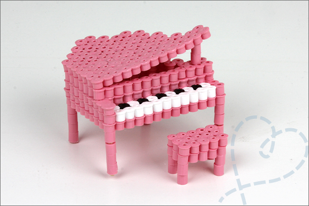 3D strijkkralen piano