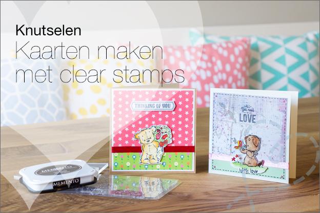 zelf kaarten maken met clear stamps