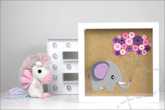 Fotolijst baby zelf knutselen olifant DIY