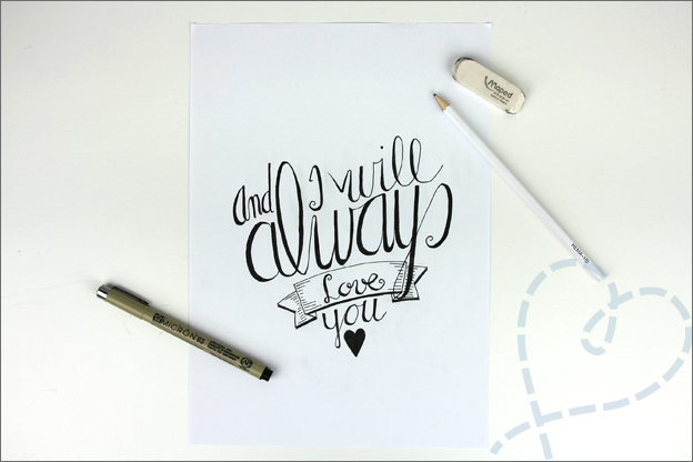 Handlettering quote witney houston