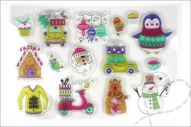 Aliexpress kerst 2017 clear stamps