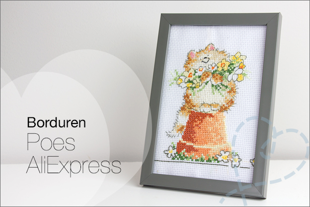 Borduren Poes kat borduurset AliExpress