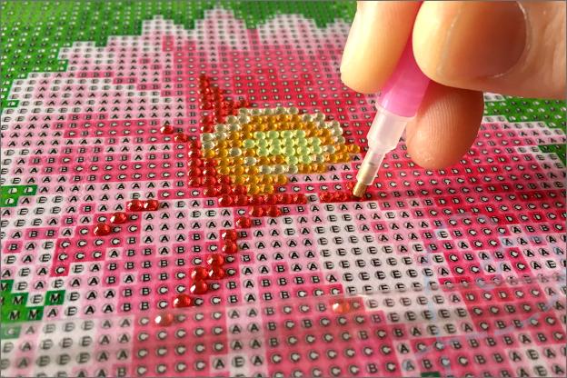 Diamond painting Action hoe werkt het