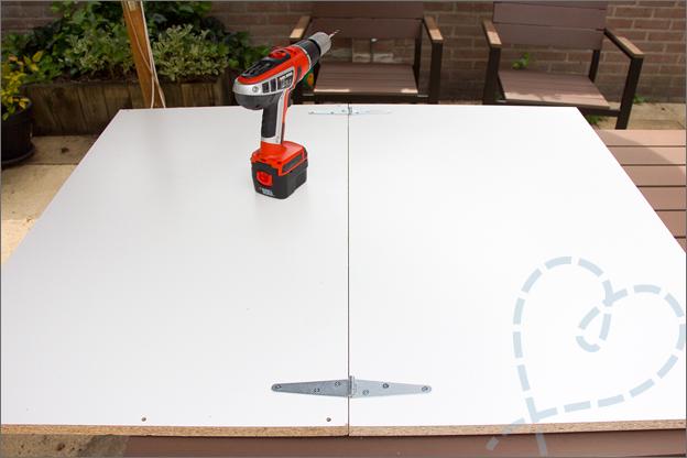 Fotostudio maken makkelijk 1 planken boren