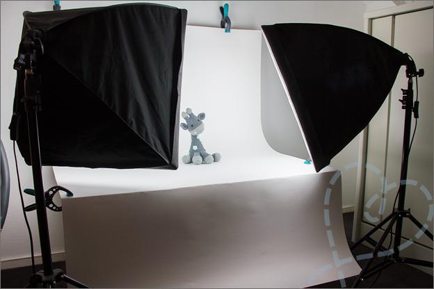 Fotostudio maken makkelijk daglicht studio verlichting