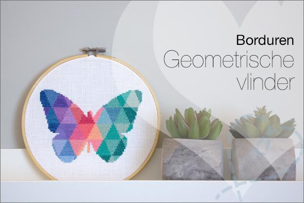 Borduren vlinder geometrisch patroon