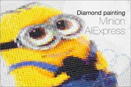 Diamond painting #1: Minion van AliExpress