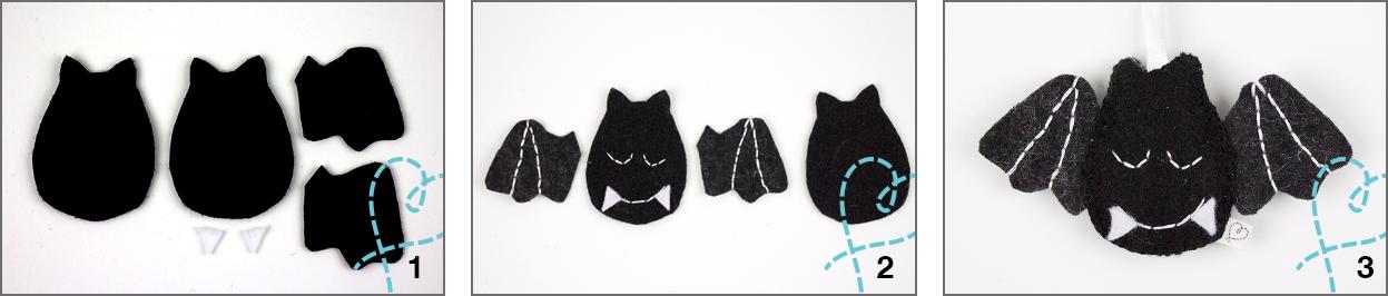 DIY halloween vleermuis vilt knutselen