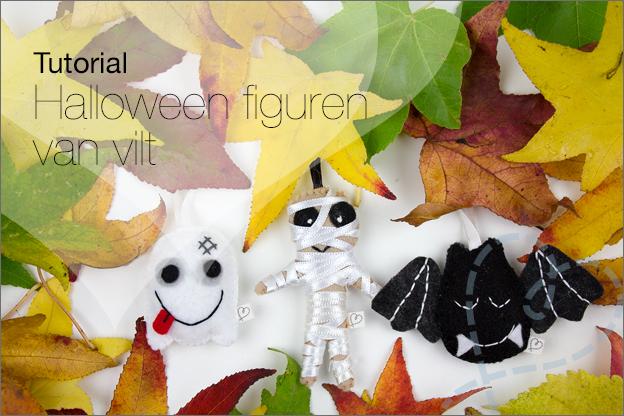 halloween figuurtjes maken vilt knutselen gratis patroon