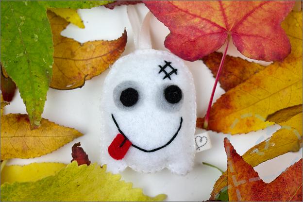 Spook halloween vilt knutselen