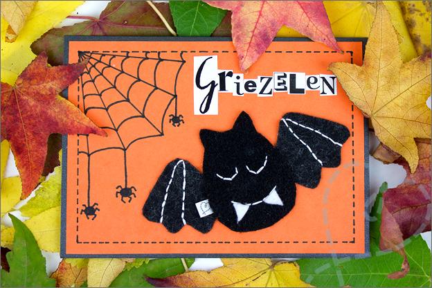 griezel kaart halloween zelf maken