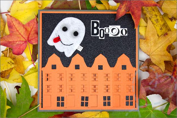 stoere kaart maken Halloween spook