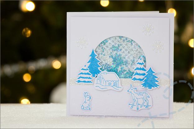 Kerstkaart zelfgemaakt voorbeeld kerstmis kaart knutselen