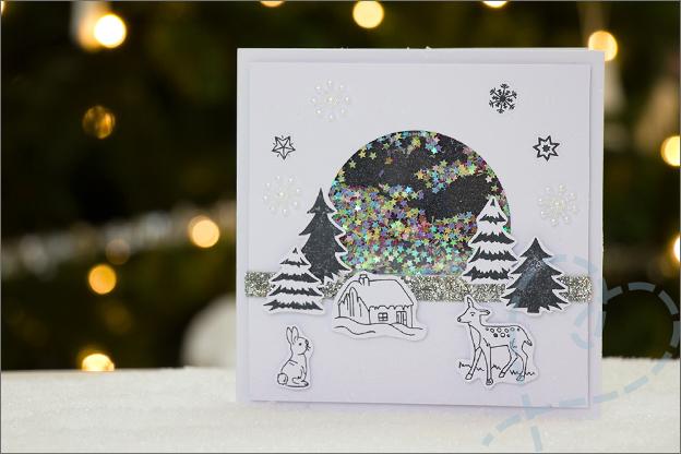 Kerstkaart zelfgemaakt handgemaakt voorbeeld